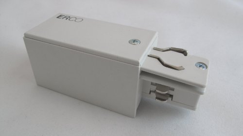 ERCO 79301 Einspeisung für 3 Phasen Stromschiene Weiss Schutzleiter Links