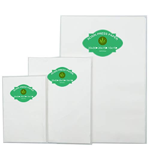 Pre-Cut Parchment Paper for Heating Press - Slick Silicone Coating on Double Sides-100 Sheet Pack (6