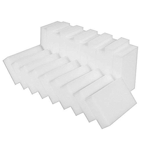 JKKJ 100 esponjas de limpieza – para eliminar manchas y marcas sin necesidad de productos químicos, goma de borrar duradera de melamina mágica bloques de limpieza de cocina, 10 x 6 x 2 cm