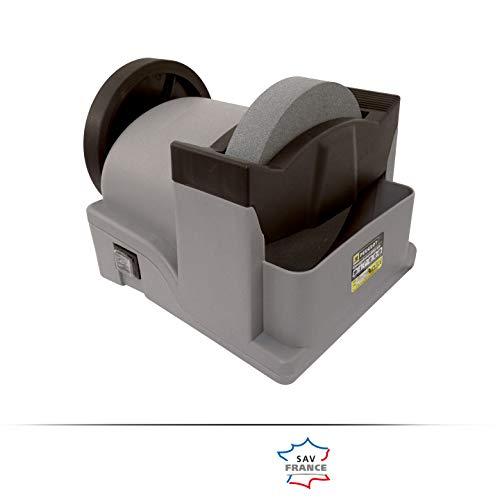 Peugeot ENERGYGrind- Esmeriladora de Banco con Depósito de Agua (con Cable, 200 mm, 190 W, Incluye Muela para Afilar y Muela para Desbastar)