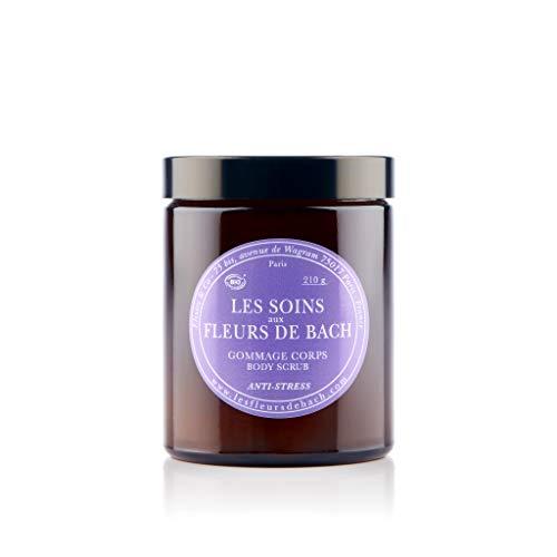 Elixirs & Co - Les Soins aux Fleurs de Bach - Gommage Scrub pour le corps Anti Stress - Détente - Bien-être - Relaxation - Naturel - Bio - Made in France - 210g