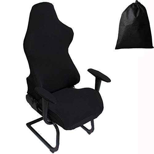 LJNGG Office Computer Game Chair Cover Armchair Gaming Chair Stretch Protector Slipcover Arm Rest Cover (Black) Nevada