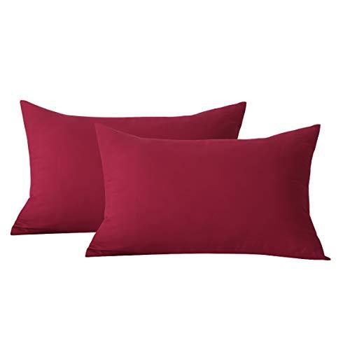 RUIKASI Juego de 2 fundas de almohada de 40 x 80 cm, de microfibra suave, cómodas, 2 fundas de cojín de 40 x 40 cm, para cama de matrimonio, fundas de almohada decorativas para sofá, coche, dormitorio