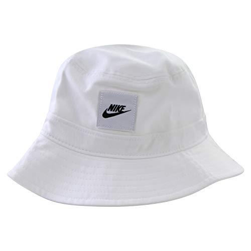 Nike CK5324 U NSW Bucket Futura Core Berretto Unisex - Adulto White M/L