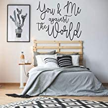 Qiu1936 Marriage Wall Decal,'You & Me Against The World,Vinyl Quote Decor for Wedding, Bedroom, Living Room or Family Room,