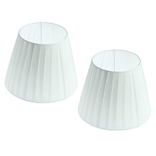 PETSOLA Juego De 2 Pantallas De Lámparas De Luz Plisada, Todas Blancas, para Montaje Final De Bombilla E27