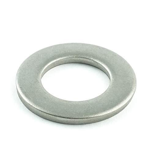 Eisenwaren2000 | M10 Beilagscheiben (50 Stück) - Unterlegscheiben Form A DIN 125 / ISO 7089 - Edelstahl A2 V2A - rostfrei