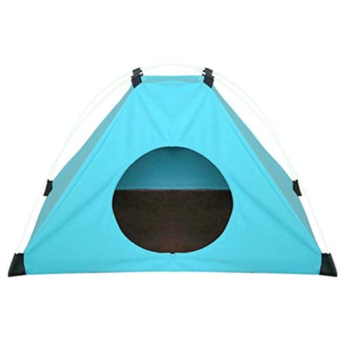 Balacoo Dog Cat Camping Tent Rain-Proof Foldable Pet Sunscreen Tent Dog House for Travel Hiking Outdoor Camp (Random Color)