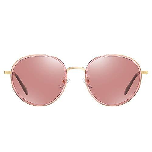 Stella Fella Retro Clásico Polarizado Damas Gafas De Sol Moda Marco Redondo Gafas De Conducción Protección UV400 (Color : Red)