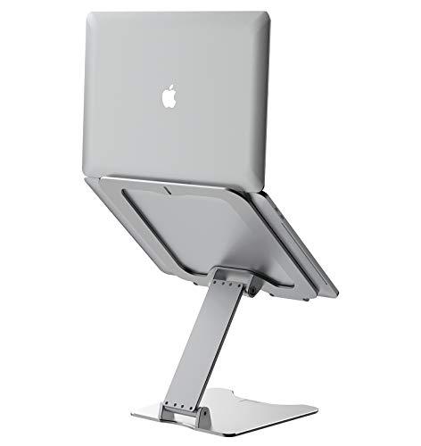 VMEI Soporte para ordenador portátil elevador de aluminio para ordenador portátil, soporte de metal compatible con MacBook Pro Air, Lenovo, HP, Dell, All10 – 15,6 pulgadas, color plateado