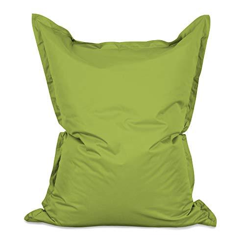 Lumaland Poltrona Sacco Pouf Puff XXL 380l Imbottitura innovativa 140 x 180 cm per Interni ed Esterni Colore Verde