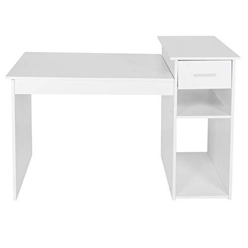 Emoshayoga Mesa de Escritura Escritorio portátil de Gran Espacio fácil de Instalar para Estudio Sala de Estar Dormitorio Oficina