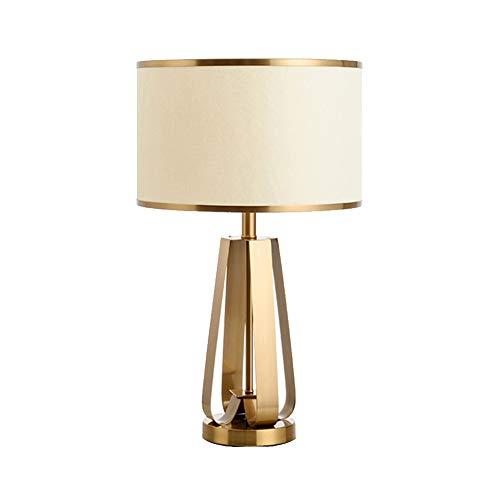 Tafellampen nachtkastje gouden tafellamp, modern met textiel lampenkap voor bed slaapkamer commodes college-woonhuis boekenkast goud 60x40cm (24x16inch)