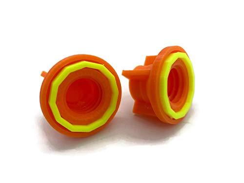 Silikontuben Verschluss mit Abdichtungsgummi statt Spitzen… (Orange)