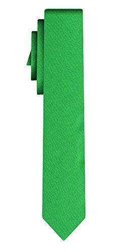 Cravate unie étroite solid grass green VII /6cm