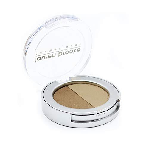 Lauren Brooke Cosmetiques Pressed Eyeshadow Duo, Natural, Organic Makeup (Taupe/Tahiti)