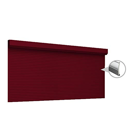 Puerta enrollable con Optokit + emisor manual, ancho 2500 mm, altura 2600 mm, color rojo