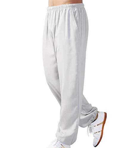 huateng Pantaloni da Yoga Unisex Tai Chi Kung Fu Pantaloni in Cotone e Lino Sciolti