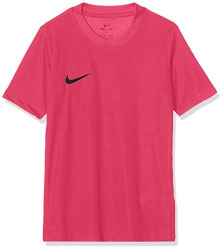 Nike SS YTH Park Vi JSY Camiseta de Manga Corta, Niños, Rosa (Vivid Pink/Negro), L