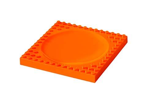 Abeba PM104001B Enfant-Plaque Plane en Orange, Plastique, 45x35x25 cm