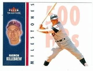 Harmon Killebrew baseball card (Minnesota Twins) 2002 Fleer Tradition #3 of 25 MS Milestones