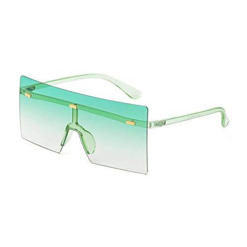 Gafas de sol de las mujeres Gran Marco de Arroz Uñas Gafas de sol Cuatro Cuadradas Mujeres de Moda Gran Caja Sin Marco Conjuntado Gafas
