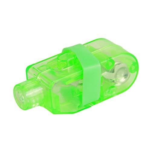 DDG EDMMS Finger beleuchtet helle LED Rave Laser Verschiedene Spielzeuge leuchten Ringe LED-Finger-Licht-Partei-Bevorzugungen für Baby-Party Supplies Halloween Licht und Rave-Zubehör-Grün