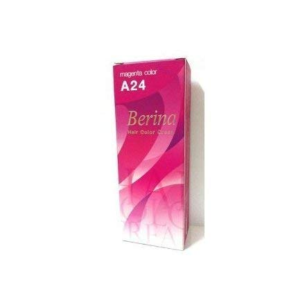 Berina Permanent Hair Dye Color Cream # A24 Magenta Made in Thailand by Capushino