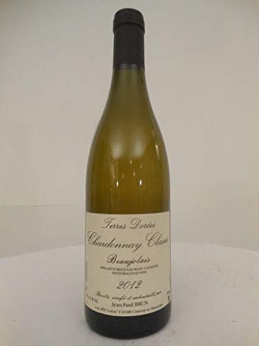 beaujolais blanc jean-paul brun terres dorées blanc 2012 - beaujolais france: une bouteille de vin.