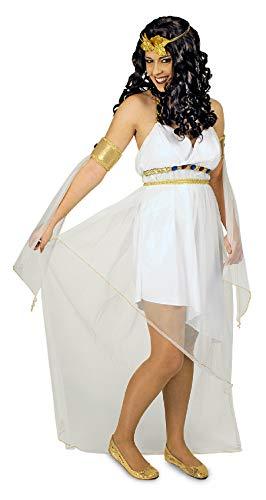 narrenkiste K31250664-36-38-A - Disfraz de griega para mujer, talla 36-38, color blanco