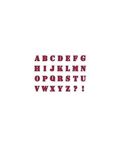 Sjabloon D 20 x 15 cm alfabet - Stamperia KSD08