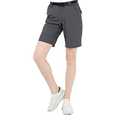 MIER Women's Quick Dry Hiking Shorts Stretchy Shorts,Graphite Grey,M