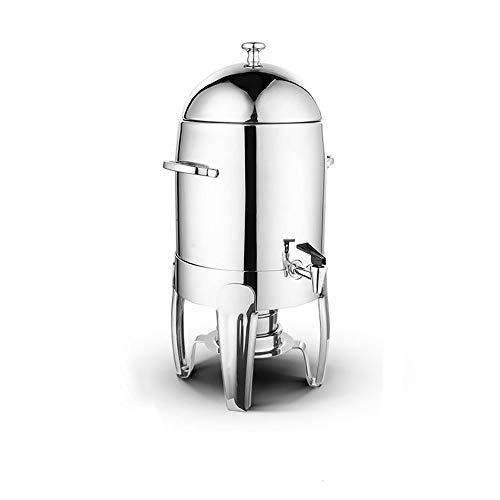 XMSIA Dispensador de Bebidas para Bebidas Acero Inoxidable dispensador de la Bebida 10ltr de Gran Capacidad Cafetera Simple Dispensador de Cerveza (Color : Silver, Size : 10L)