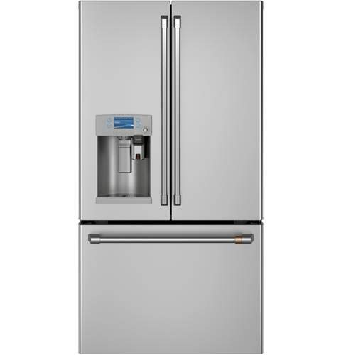 Price comparison product image Ge Cafe CYE22UP2MS1 36 Inch Counter Depth French Door Refrigerator in Stainless Steel