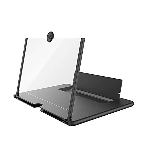 ZXVC Telefon-Bildschirmlupe, 12'3D-Smartphone-Bildschirmverstärker Vergrößerungsbildschirm Vergrößerbarer Faltbarer Telefonständer mit Bildschirmverstärker Geeignet für alle Smartphones