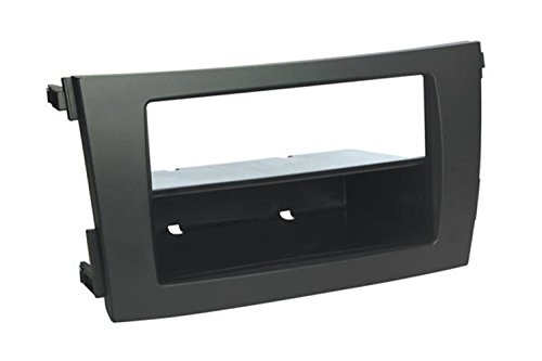 Scosche TA2101B Compatible with 2009-13 Toyota Corolla ISO Double DIN & DIN+Pocket Dash Kit, Black