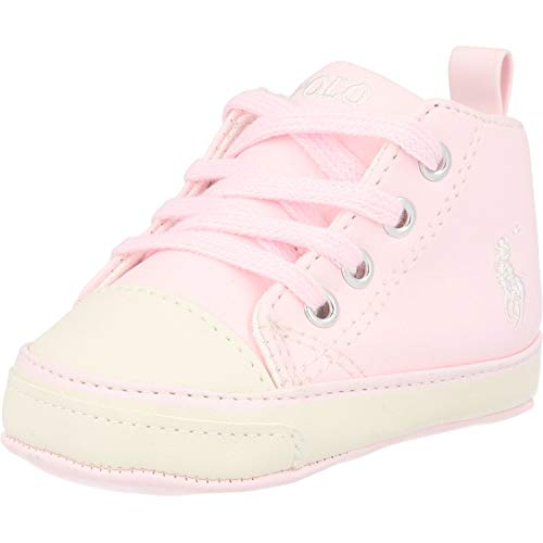 Polo Ralph Lauren Hamptyn Hi Layette Rosa/Blanco (Light Pink/Off White) Tumbled 19 EU