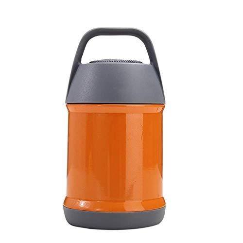 YEZINB 304 Edelstahl Lebensmittel Thermoskanne Geschmortes Becherglas Mini Eimer Vakuum Thermoskanne Topf Suppe Mittagessen Eimer Brei Becher, Kapazität, 450ML , Farbe, 3