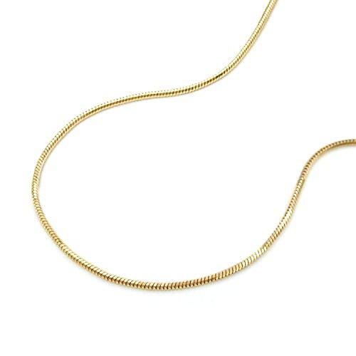 Latotsa 14 Karat 585 Gelbgold Gold Schlangenkette Schlange Schlangen Kette Halskette Goldkette Schmuck Collier 42cm