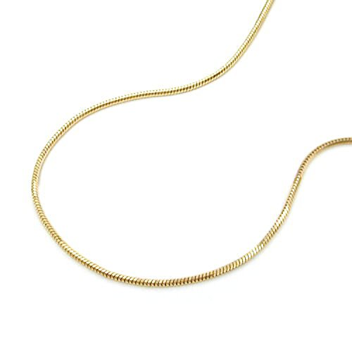 Latotsa 14 Karat 585 Gelbgold Gold Schlangenkette Schlange Schlangen Kette Halskette Goldkette Schmuck Collier 45cm