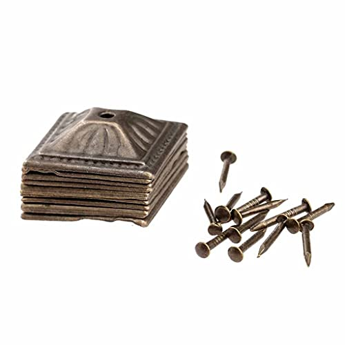 LXZDZ 10 unids 21x21mm Antiguo Bronce Iron Tapicería Joyería Caja Caja Caja Sofá Tachuelo Decorativo Stud Pushpin Muebles Decorativos Uñas