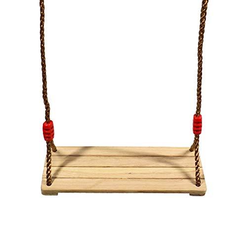 ValueHall Holz Schaukel Schaukelsitz mit Einstellbares Seil Schaukel Kinderschaukel Garten Brettschaukel aus Holz für Erwachsene Kinder V7110A