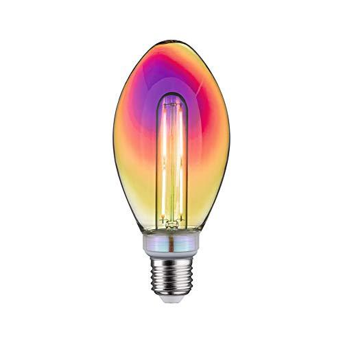 Paulmann 28772 LED Lampe Fantastic Colors B75 Birne 5 Watt dimmbar Leuchtmittel Dichroic effizientes Licht Warmweiß 2700 K E27