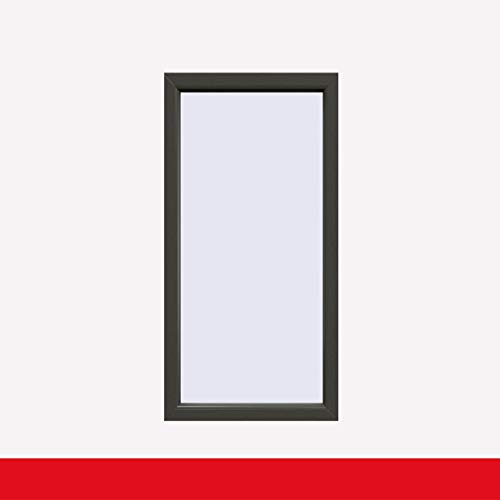 Balkonfenster Quarzgrau (beidseitig) Festverglasung Fenster Fest im Rahmen