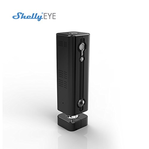 Shelly Eye 3G/Wireless Security 720P Camera WiFi Home Surveillance with Motion Detection, Two Way Audio, Baby Monitor, Night Vision Wide Viewing Angle - Free Cloud Storage ..., zwart