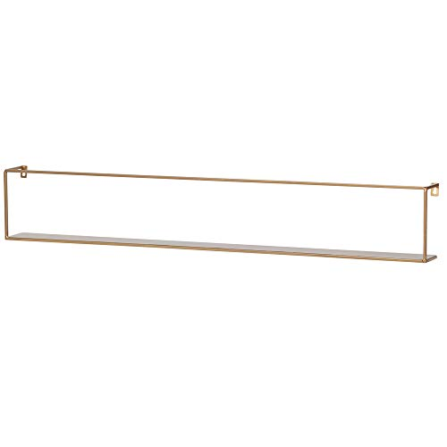 De Eekhoorn Wandregal Meert 100 cm Metall goldfarben Bücherregal Regal Ablageboard