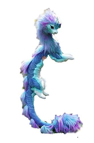 FZHGDFG Süßes Drachen-Plüsch-Spielzeug, der letzte Drache, Plüsch-Spielzeug, blauer Drache, Stofftiere, Plüsch-Spielzeug für Jungen und Mädchen, Geschenk