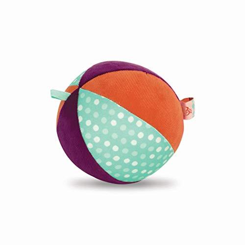 B. Toys - Juguete para bebé, Bola Suave de Tela con Sonido de Campanilla, Juguete de motricidad – Juguete de Actividad para bebés a Partir de 0 Meses