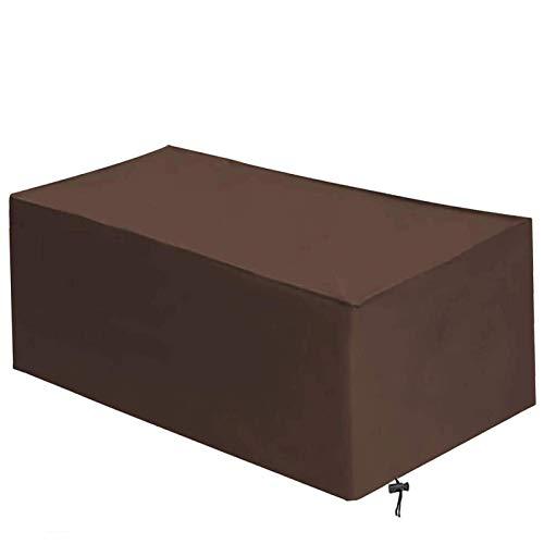 DKLE Abdeckhaube für Tisch und Stühle, Atmungsaktiv für Gartenmöbel Wasserdicht Winddicht Schutzhülle Gartentisch Abdeckung, 420D Schutzhülle Gartentischabdeckung