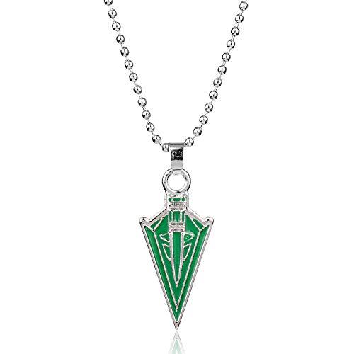 Feidiao Film Green Arrow Anhänger Halsketten Mode Geometric Arrow Emaille Metall Halskette für Frauen Männer Geschenke